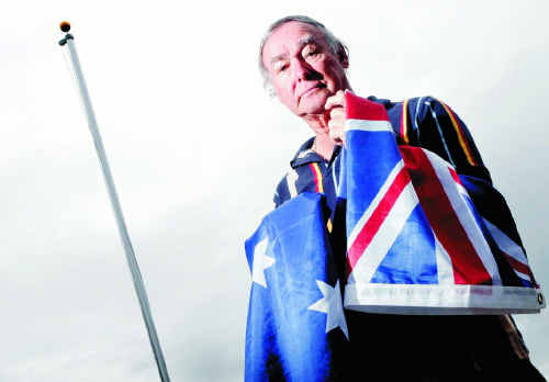 Peter Madden wants to fly the national flag outside his house but management, Bremer Waters Retirement Resort, won't allow him.