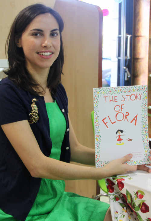 Fleur Vella-Chang at the signing of her first children's book, The Story of Flora.