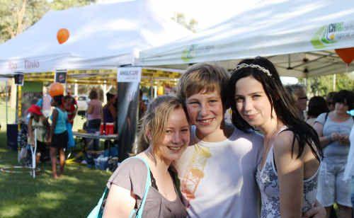 Meagan Latham, Harry Marshall and Tamara Harrold had fun the at the Y-Carnival in Emerald at the weekend.