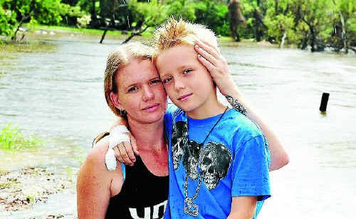 Nikki Rogan and son Zac Rogan-Rae will never forget how a complete stranger saved Zac's life when he was sucked under Bucca Bridge.