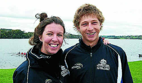 Clarence Valley pair Leah Saunders and Riley Elvery have been chosen in the Australian junior rowing team.