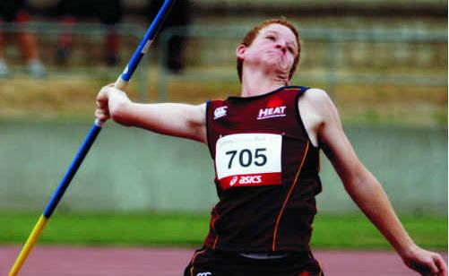 Emerald's Troy Graham threw a personal best in javelin at the Australian Athletics Junior Championships last month.