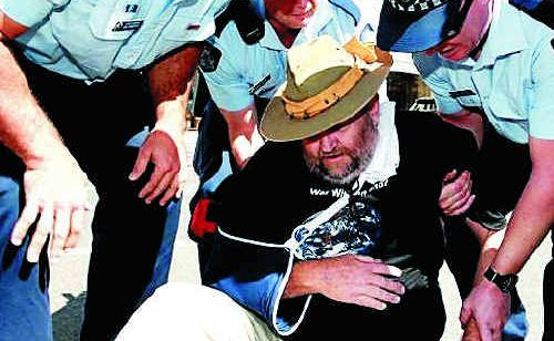 Mr Law's protests mean he is no stranger to Queensland Police or the ADF.