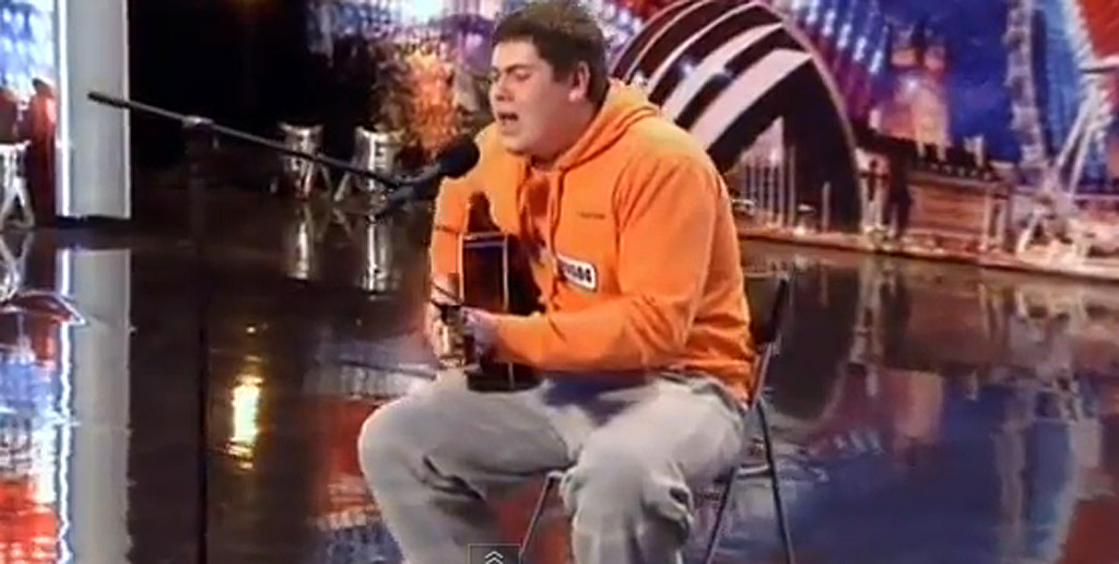 Michael Collings performing on Britain's Got Talent.