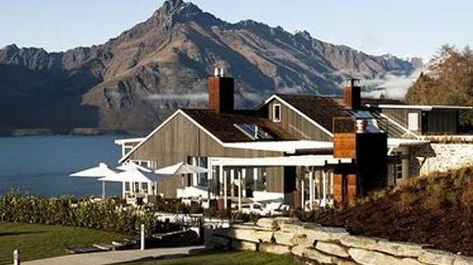 Matakauri Lodge occupies a spectacular site overlooking Lake Wakatipu.