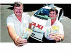 Coast taxi drivers Dennis Julian (left) and Tony Meyer are among the many drivers who are fundraising for fellow driver Richard Geale.