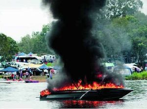 Kids hurt in holiday boat blaze