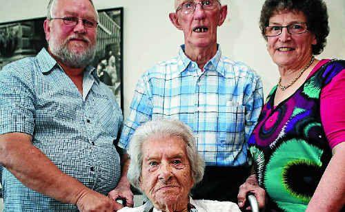 Gladys McFadyen celebrated her 100th birthday with her husband of 63 years, Henry, son Stuart McFadyen, and his wife Janice.