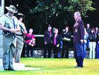 Brian Wood laid a wreath on behalf of the original Anzacs at Maryborough's dawn service.