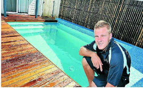 Caleb Moore's Boutique Pools and Spas business covers pool, backyard and landscape design.