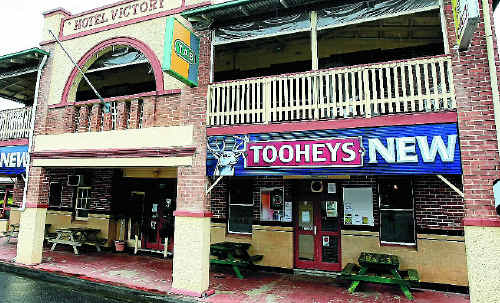 A man and woman were tied up during an armed-robbery at the Victory Hotel at Mooball on Anzac Day.