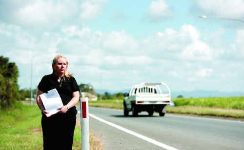 Michelle Leeson is petitioning for upgrades to the Bruce Highway after her immediate family members all died in a car accident on Australia Day.