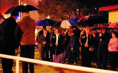 A shower of rain at the Maclean Anzac Day dawn service was always on the cards as part of the sodden start to 2011.