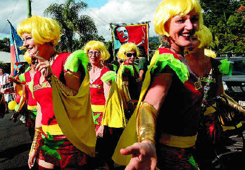 The Bringabong Babes danced their way through the MardiGrass law reform rally last year