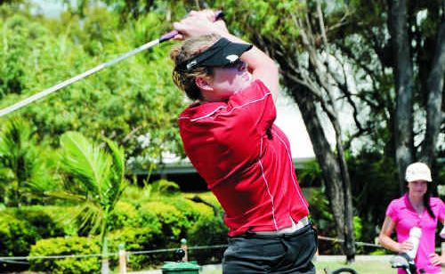 Rockhampton golfer Sarah Weston is one of a number of junior golfers who is in contention for tomorrow's Rockhampton Capricorn Investment Partners Ltd City of Rockhampton Open Ladies Championship.