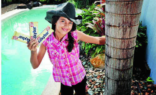 Ella D'Souza, 8, of Maroochydore, is an entrant in the national Milkybar Kid competition.