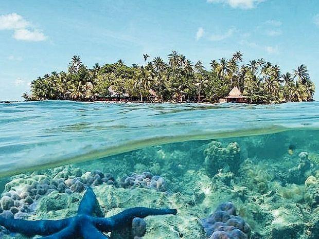 The idyllic Toberua Island in Fiji.
