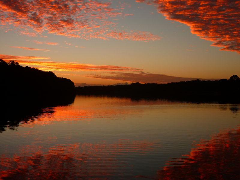 Julie Baker - sunrise over Maroochy River.