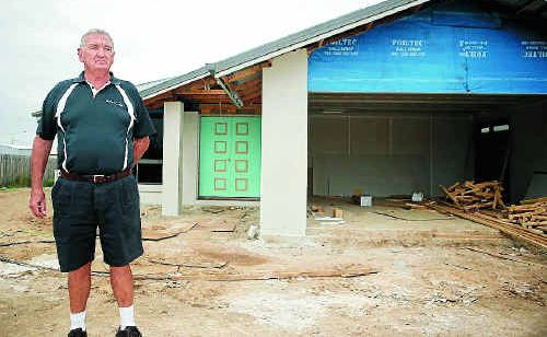 Rockhampton builder, Ted Price at one of his houses in Gracemere.
