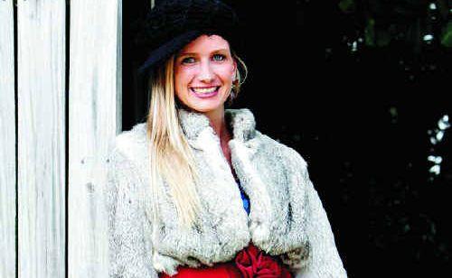Sofia Bjorklund shows off some winter fashion from Mooloolaba's Retournez-vous.