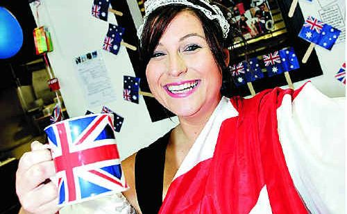 Louise Nicholls, of Will & Harry's Takeaway in Buderim, is getting in the mood for the royal wedding.
