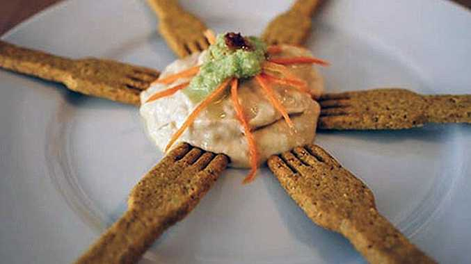 Poilâne's curry-flavored cracker fork is a great savoury accompaniement, while the shortbread spoon is a must for dipping into the patisserie's many deserts.
