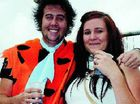 The Flintstones aka Ross 'Fred' Burckhardt and Shannon 'Wilma' Phersson enjoying the pub fest celebrations last year.
