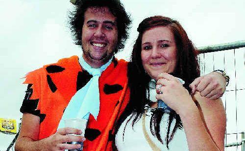 The Flintstones aka Ross 'Fred' Burckhardt and Shannon 'Wilma' Phersson enjoying the pub fest celebrations last year.