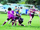 Marist Brothers player Brendan Brooke led by example in the NRRRL match against Cougars at Queen Elizabeth Park, Casino.