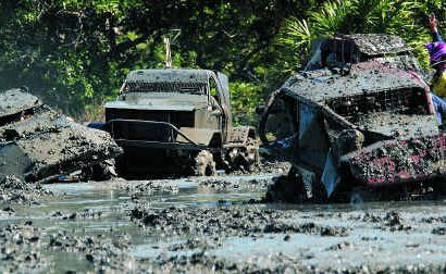 Competitors at the Queensland Mud Trials in Sarina found the going a bit tough.