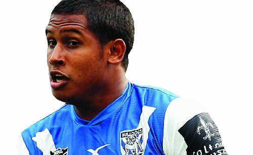 Mackay's Ben Barba of the Bulldogs in action for the Canterbury Bulldogs.