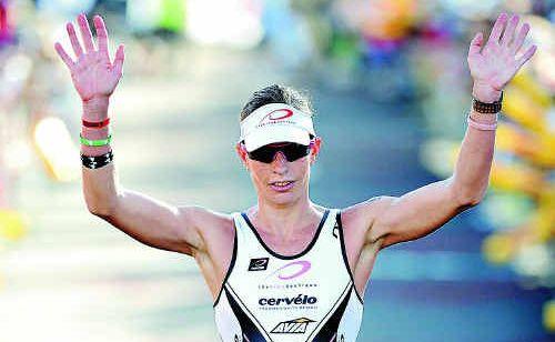 Caroline Steffen wins the Australian Ironman in Port Macquarie.