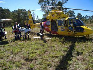 Motorbike rider injured in accident