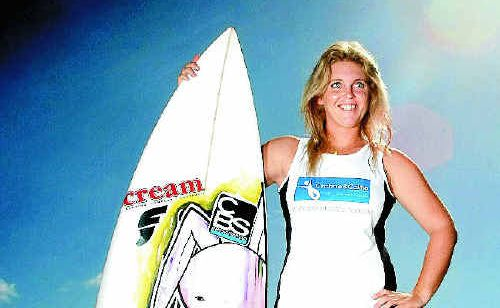 Brittani Nicholl takes her surfboard down to the beach to help her deal with crohn's disease. Brittani is the face of a national TV campaign during National Crohn's and Colitis Awareness Month in May.