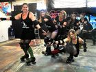 Derby Dolls' war paint on show