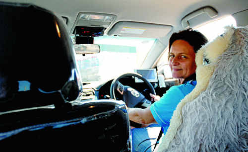 Taxi Driver Angela Lock has heard many a funny comment as she drives passengers to and fro.