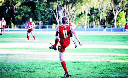Yeppoon Swans captain Wes Hawke suits up for his 200th AFL Capricornia match against Gladstone Mudcrabs in Gladstone tomorrow.