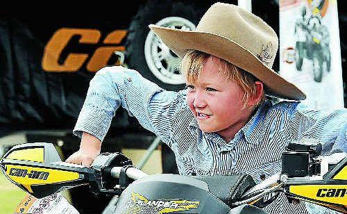 Western Wendt cranks the throttle on an Outlander quad bike at AgroTrend.