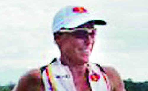 Lisa Harding runs in the Port Macquarie Ironman event.