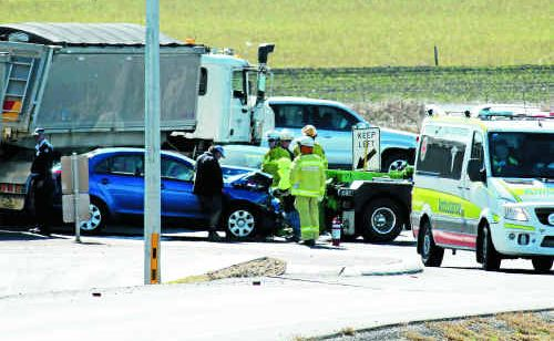 The scene of one of the numerous collisions at the Eight Mile, this one from July last year.
