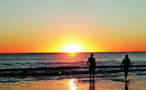 Sunrise at Mooloolaba Beach.