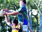 University's Blake McMillan rises above the pack.