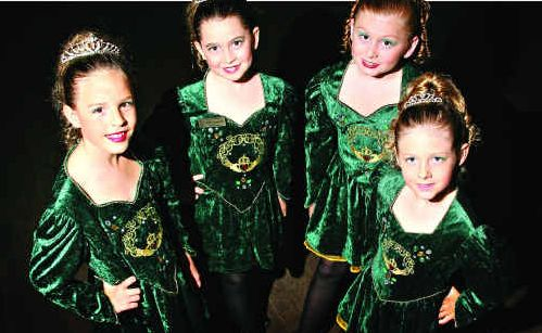 Matthew Dunkinson Academy of Irish Dance students Imogen Hutchison, 9, Olivia Boardman, 9, Kassia Daley-Smith, 10, and Emmerson Ball, 7 cultivate their skill.