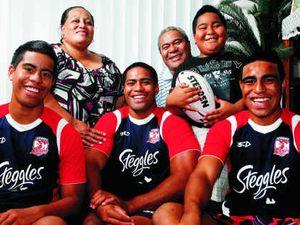 Family of football stars