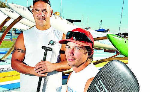 The Mooloolaba Outrigger Canoe Club's Ray Chong and Rhys Davies are primed for this weekend's national titles.