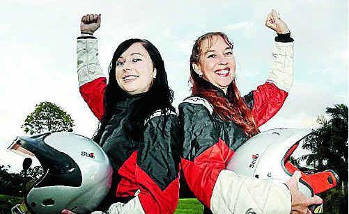 Driver Kim Acworth and navigator Stephanie Mossman prepare for the rally championship.