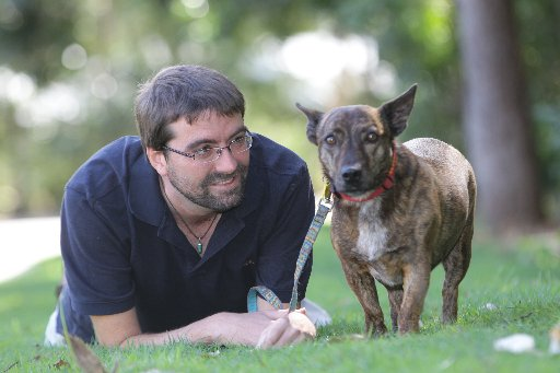 Twin Waters resident Gavin Grant was diagnosed with brain cancer 18 years ago. Molly his pet pup has been a great friend.