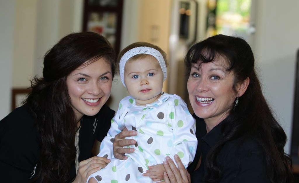 Performer Patrice Tipoki, and her 19month old daughter, Elisabeth, visited her mother Vickie Larkin at her Twin waters home.