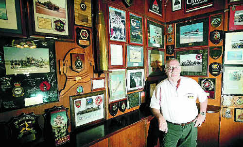 Leigh Turnbull reflects on the Criterion Hotel's collection of military memorabilia and prepares to welcome US soldiers.