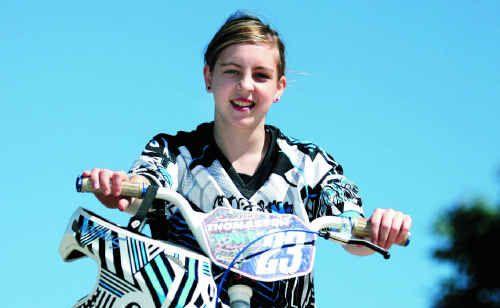 Rockhampton BMX rider Samantha Thomasson will hit the Rockhampton track this weekend.